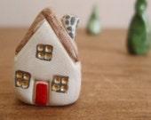 house & trees ornament set