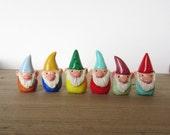RESERVED for Mia - 3 tiny custom gnome figurines