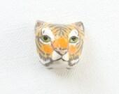 tiger head brooch