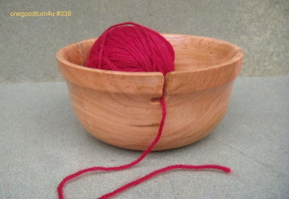 Yarn bowl holder woodturning woodworking crochet wood skein knitting  338
