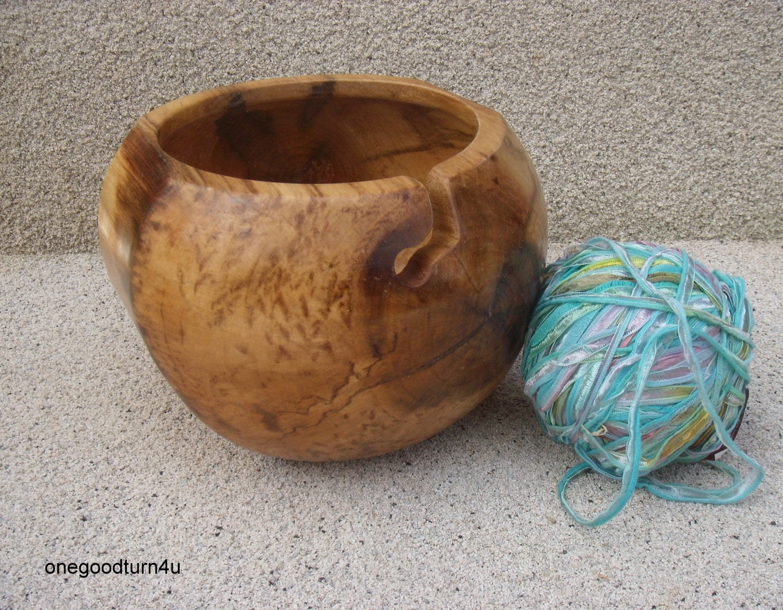 Knitting Bowls Wood : Poplar wood yarn bowl woodturning woodworking knitting weaver