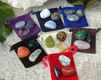 Chakra Healing Balancing Tumbled Stones Crystals using Reiki and Feng Shui