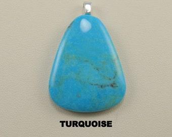 Turquoise Designer Cabochon Pendant.