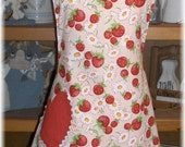 Cherry Print Lucy Vintage Inspired Full Apron