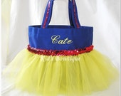 Halloween Personalized Tutu Bag - Trick or Treat Bag to add to your Princess Snow White themed costume