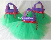 15 Party Favor Tutu Bags - for your Disney Princess Ariel Themed Birthday Party- Princess Party Bags