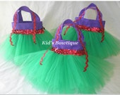 13 Party Favor Tutu Bags - for your Disney Princess Ariel Themed Birthday Party- Princess Party Bags