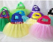 12 Princess Party Favor Tutu Bags - Add to your Disney Princess Inspired Birthday Party - Tutu Tote Gift Bags