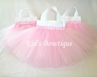 16 Sweet Baby Pink TUTU Sequins Party Favor Tutu Bags