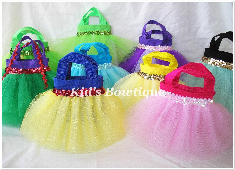 12 princess party favor tutu bags add to your disney. Black Bedroom Furniture Sets. Home Design Ideas