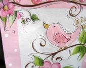 Girls Growth Chart Hand painted Birdies