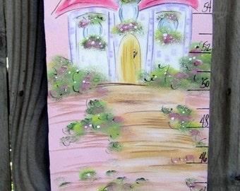 Hand Painted  Princess Growth Chart
