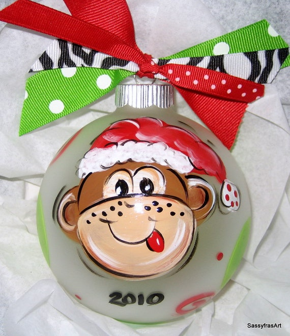 Items similar to personalized christmas ornament santa for Customized photo christmas ornaments