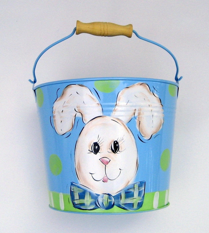 Hand Painted Personalized Boys Easter Basket By