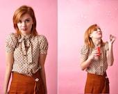 Mod 1960s Twiggy blouse Sz XS