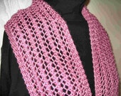 Knitted lace scarf - Four patterns in One Easy to knit one row lace patterns PDF