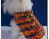 Dog Sweater Knitting pattern Basic Ribbed Design Very Easy to Knit PDF