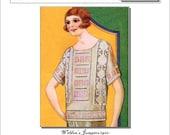 Flapper Ladies Top 1920s Knitting and Crochet PDF pattern 1920 Weldon's