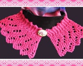 Lace Collar knitting pattern Raspberry Ripple design Downloadable PDF Easy to knit