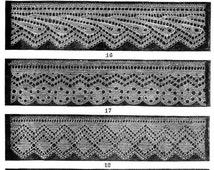 Knitted lace edgings Set 3 PDF 5 Victorian patterns