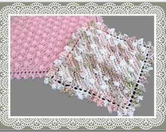 Knitted Dishcloth Washcloth Easy Knitting Dotted Swiss Pattern PDF