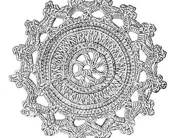Crochet Doily Pattern Victorian 1885 downloadable PDF