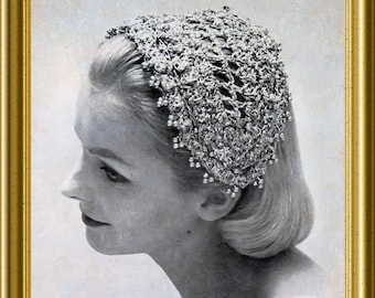 Crochet hat Vintage 1957 PDF easy pattern