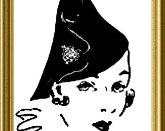 Vintage Hat Sewing Instructions Cone shaped style 1930s PDF Downloadable Pattern Ruth Wyeth Spears