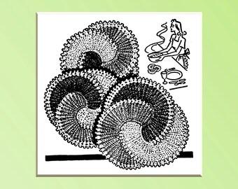 Crochet Potholder Hot Pad Vintage Swirl Design Crochet pattern 1948 PDF