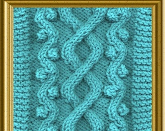 Aran Scarf Knitting pattern Wandering Path design PDF