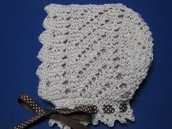 Items similar to Lace Baby Bonnet knitting pattern PDF EASY Victorian style d...