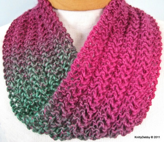 Free Knitting Pattern For Mobius Scarf : Moebius Scarf Lace Infinity Hand knit OOAK FREE by KnittyDebby