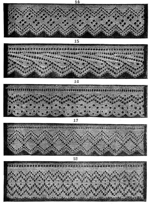 Knitted Lace Edging Patterns : Knitted lace edgings Set 3 PDF 5 Victorian patterns by KnittyDebby