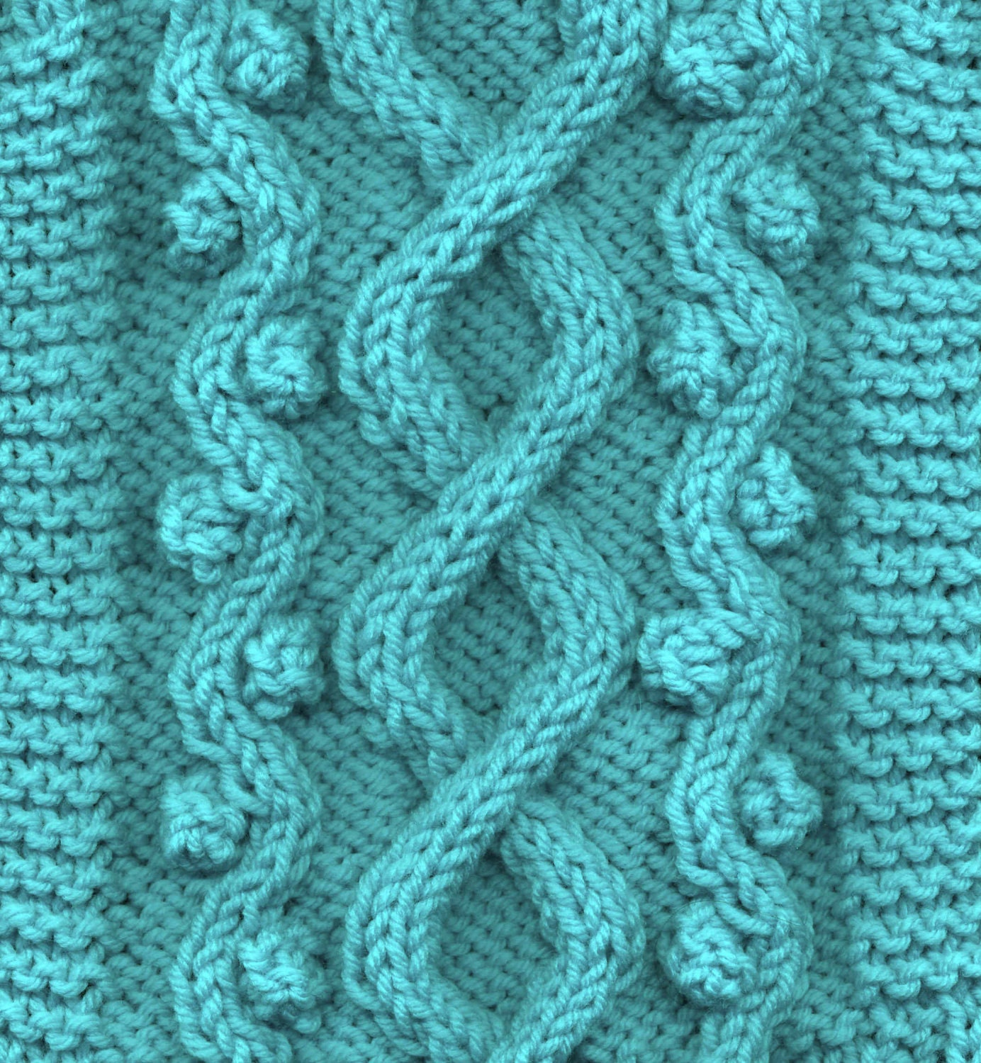 Knitting Cables Patterns : Celtic doggie wandering path cable dog sweater knitting