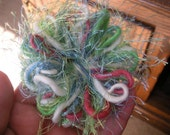 Novelty Yarn Flower Brooch Pin -- Little Mermaid