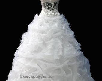 One Shoulder  Unique Wedding Dress CM1032