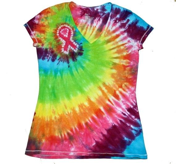 items similar to cancer awareness ribbon tie dye t shirt