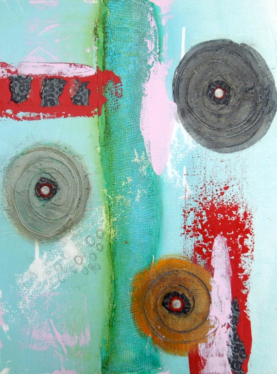 Abstract Painting - Original Contemporary Mixed media original