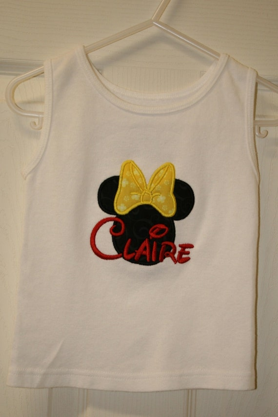 Minnie mouse tee or tank top