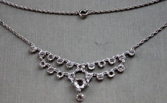 Art Deco Unfoiled Paste Wedding Necklace