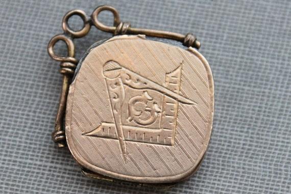 Victorian Masonic Watch Fob Locket