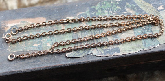 Ornate Victorian Rose Gold Chain Lavalier Necklace