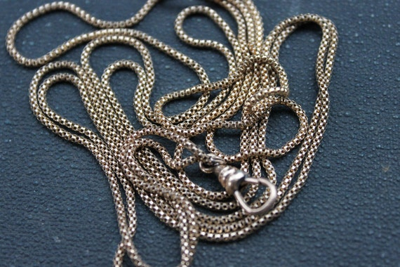 RESERVED / For Hollie / Victorian Long Ladies Serpentine Watch Chain Necklace / W&SB