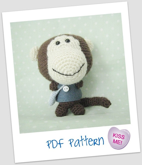 Instant Download Madelon Monkey PDF Amigurumi Crochet  Pattern