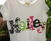 Personalized Appliqued Name Shirt by Giggle Baby Designs...Personalized Shirt or Onesie