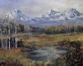 Three Sisters Mountains signed Limited Run Print by Jude Welter
