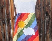 Apron Top Patchwork Rainbow