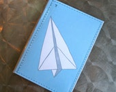 Paper Planes - Blue- Passport Case