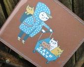 """Gemma Correlll Cat Lady Vinyl Billfold Wallet - """"Cat Mart"""""""