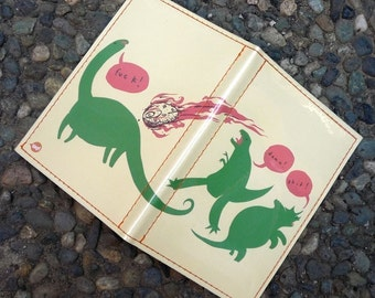 Dinoclasm Passport Case - Mikeatron for Tinymeat
